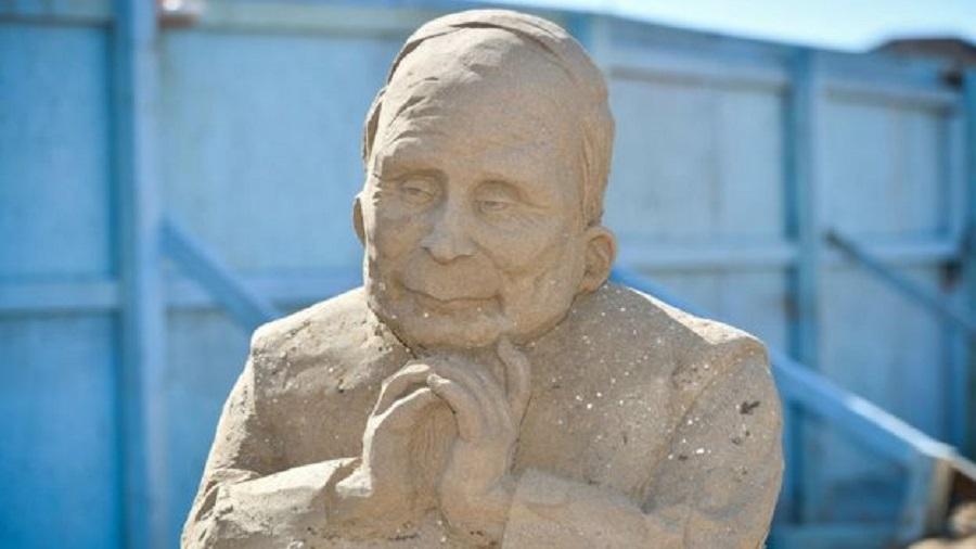 俄羅斯總統普京的沙雕。網上圖片