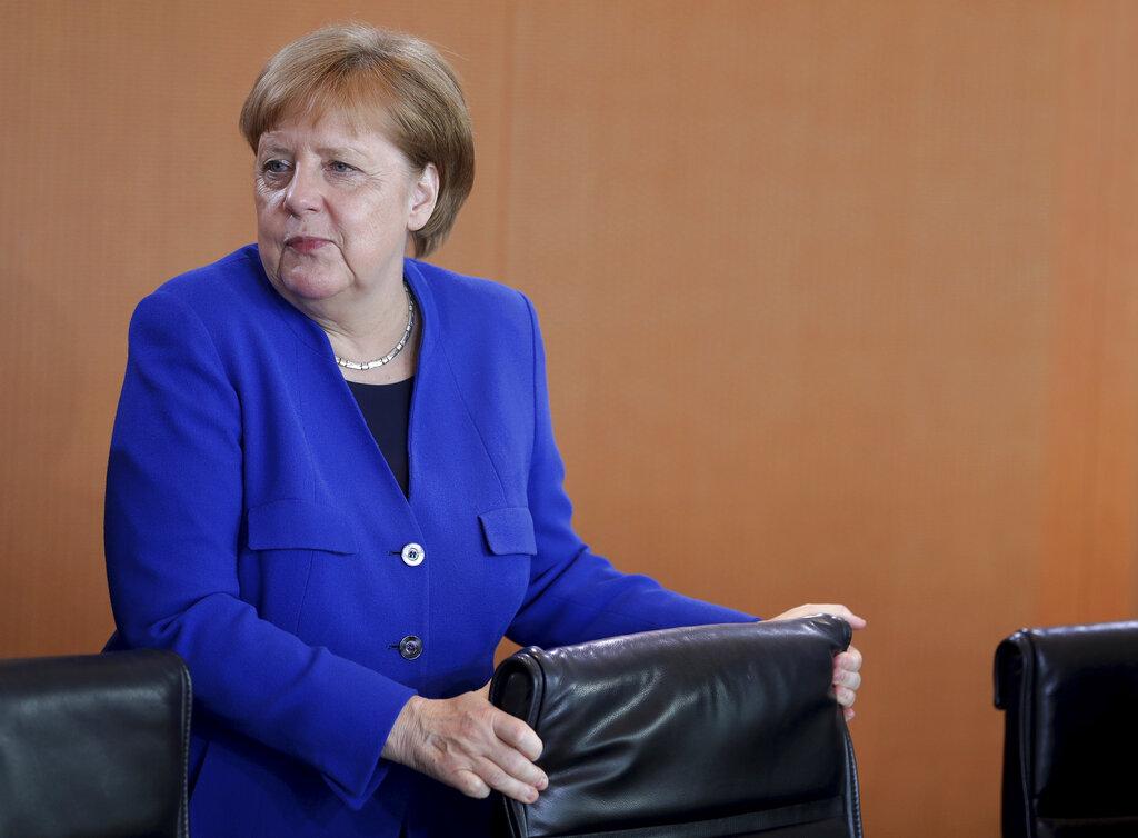 德國女總理默克爾。AP圖片