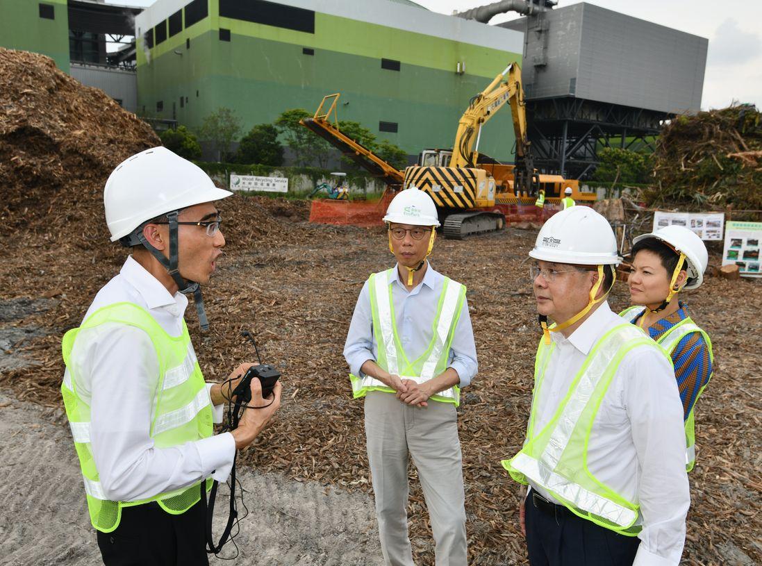 張建宗表示,特區政府重視支援回收產業的可持續發展。政府新聞處圖片