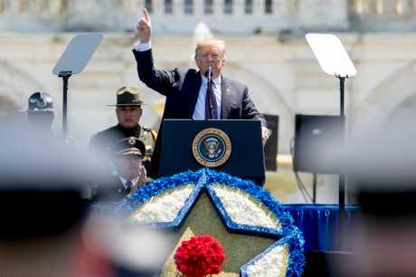 美國總統特朗普。AP