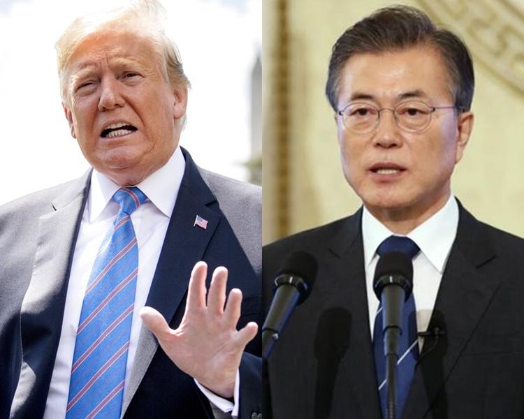 特朗普將與南韓總統文在寅進行會談。AP圖片/資料圖片