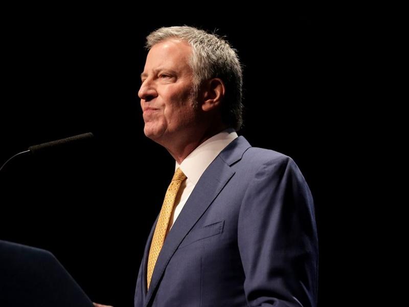 紐約市長白思豪宣布參加明年的總統大選。AP圖片