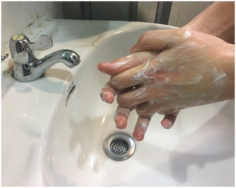 清水及梘液已足夠殺菌。