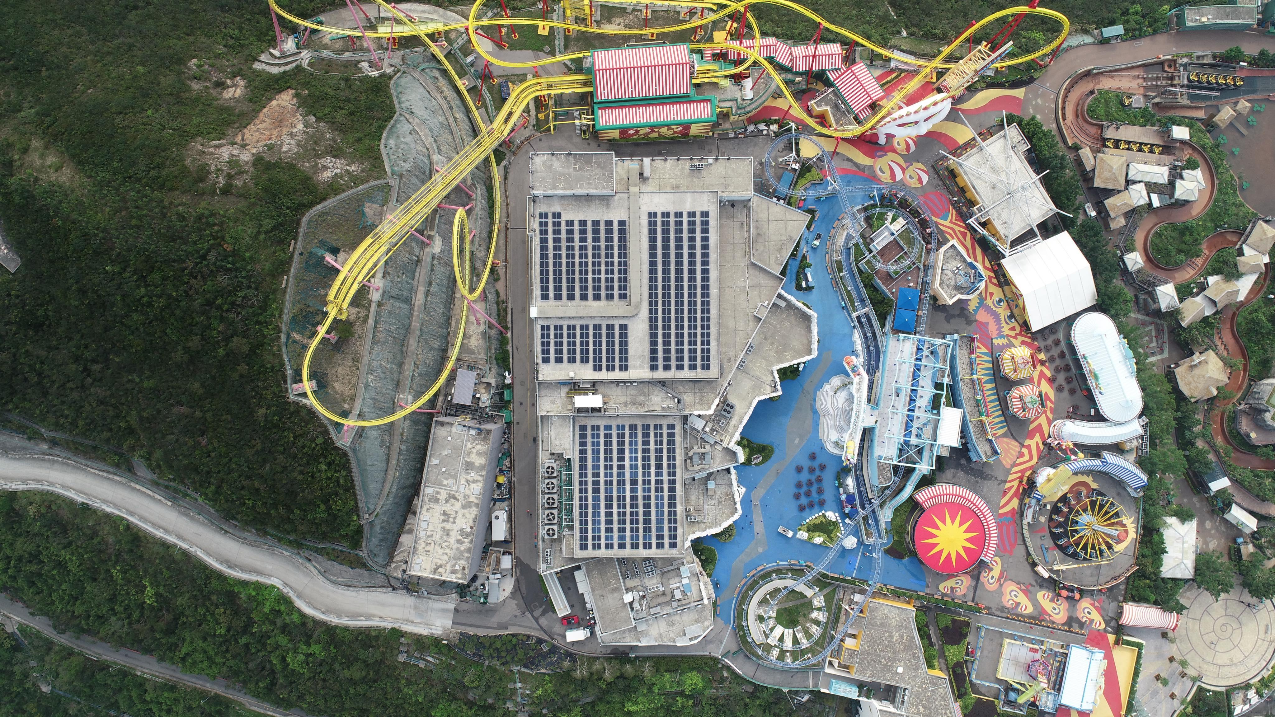 海洋公園裝逾600塊太陽能板 電量可供200人用一年