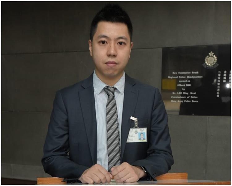 新界南總區情報組督察薛國威。