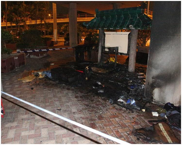 九龍城太子道西有雜物起火 消防懷疑煙頭燒著垃圾肇禍