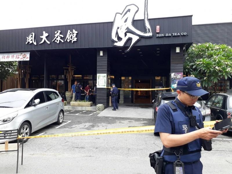 台中市沙鹿區中山路一間茶館發生疑似槍擊案,一名男子送院後身亡,一對夫婦受傷。網圖