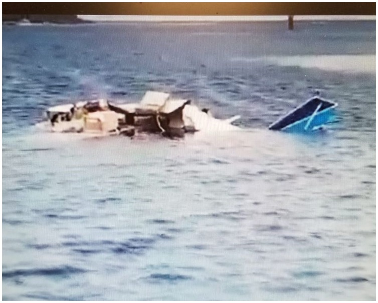 肇事小型机于一个渡假小岛起飞后不久堕海。网图