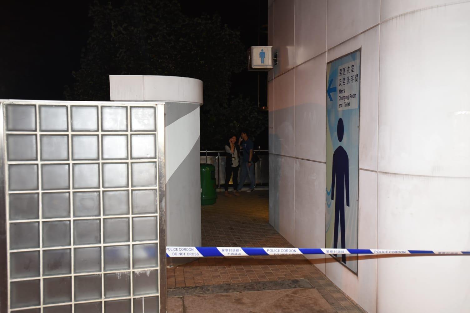 男子於公廁被捕。
