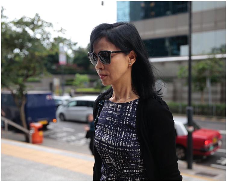 陳婉玉抵達法庭。