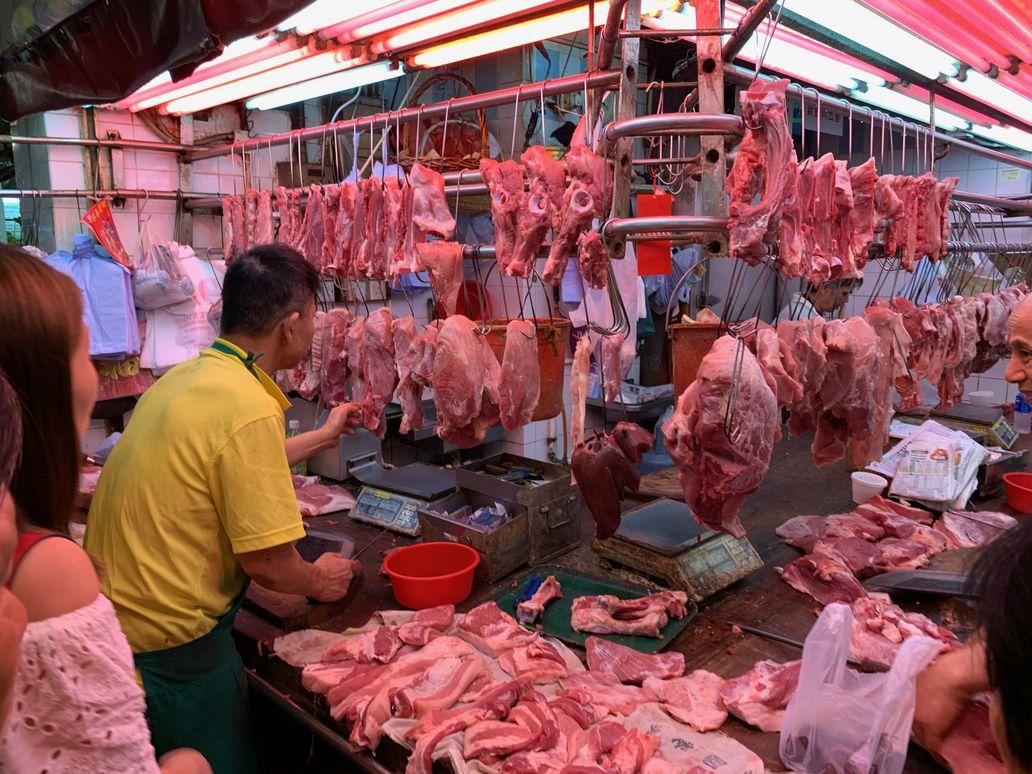 新鮮豬肉今天恢復應市。 資料圖片