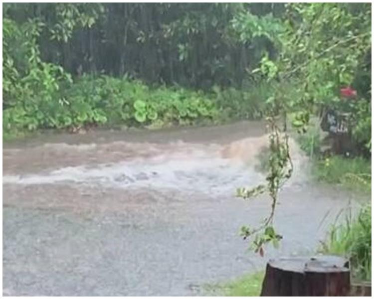 九州南區多處水浸。網圖