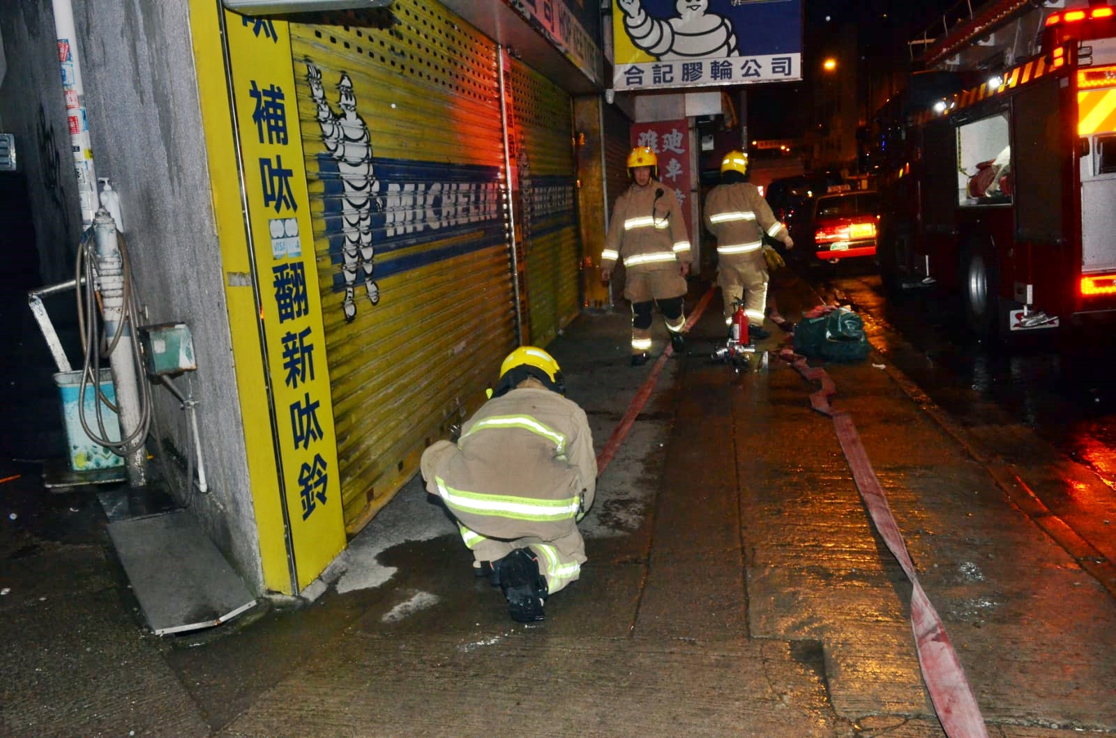消防到場灌救。