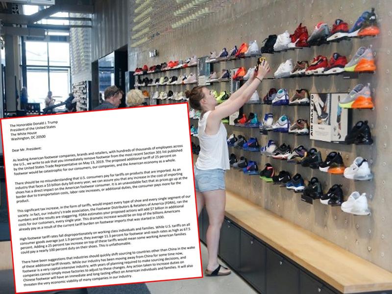 Nike和Adidas等逾170间鞋厂发公开信给特朗普。