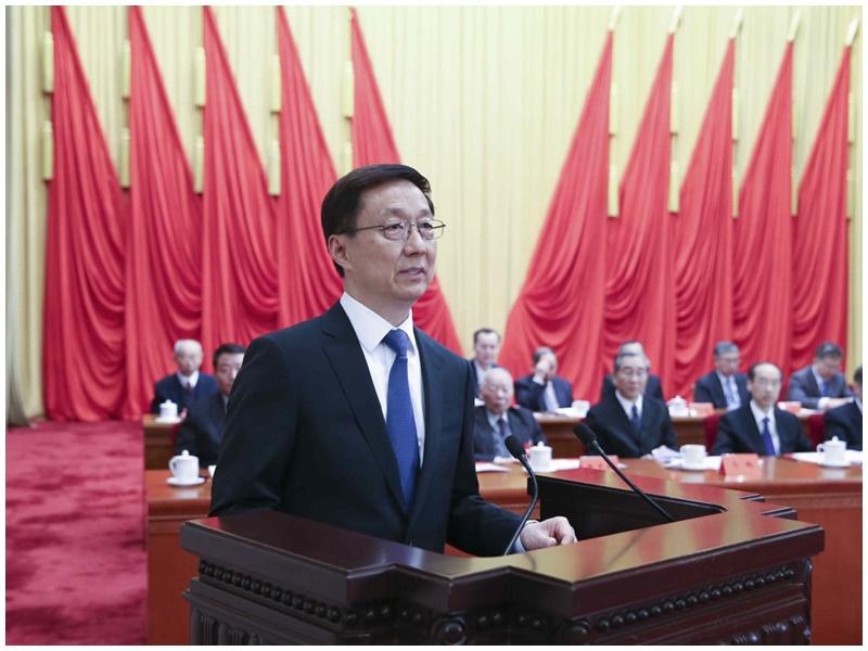 韓正指《逃犯條例》修訂工作合憲。新華社