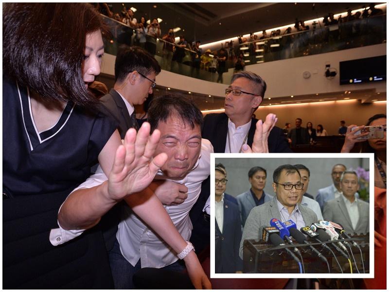 林志偉(小圖)譴責有議員侮辱林鄭月娥。資料圖片