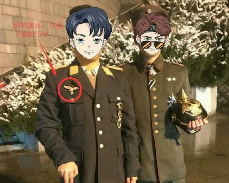 两男子穿仿纳粹军服在杭州烈士陵园拍照,今日宣判。