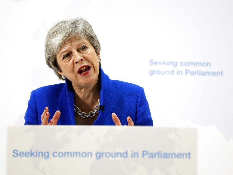 英国首相文翠珊。