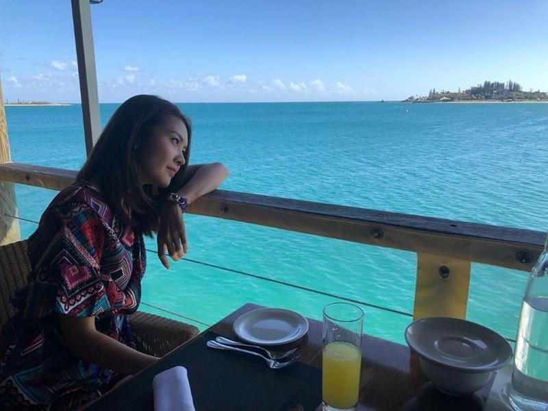 陳庭欣遠赴新喀里多尼亞拍攝。ig圖片