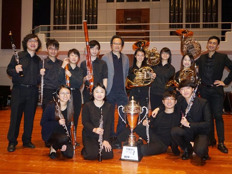 演藝木管合奏團,首戰國際賽奪冠。