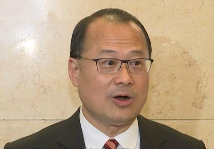 中華總商會長蔡冠深。無綫截圖