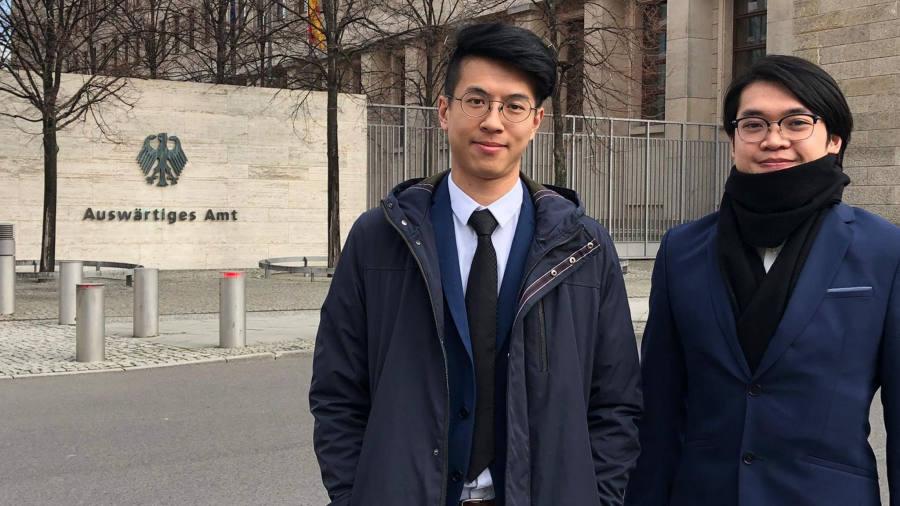 黃台仰以及李東昇,據報獲得德國政府批出難民庇護。網上圖片