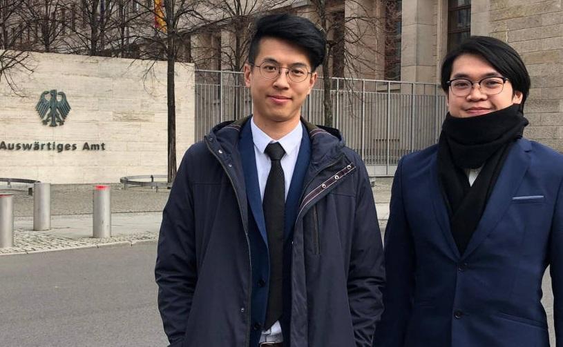 黃台仰和李東昇,據報去年獲德國給予難民庇護。金融時報圖片