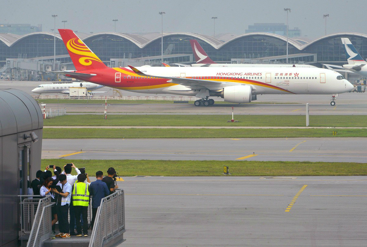 香港航空機師過剩。資料圖片