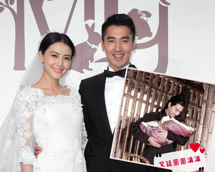 趙又廷和大陸女星高圓圓結婚5年後喜獲女兒。