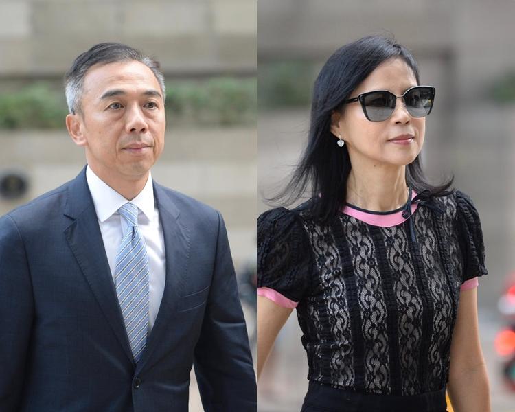 被告馮永業(左)及陳婉玉(右)。 資料圖片