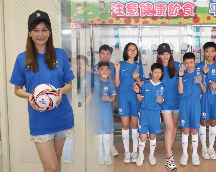 柳妍熙坦言希望能讓弱勢學童一圓足球夢。