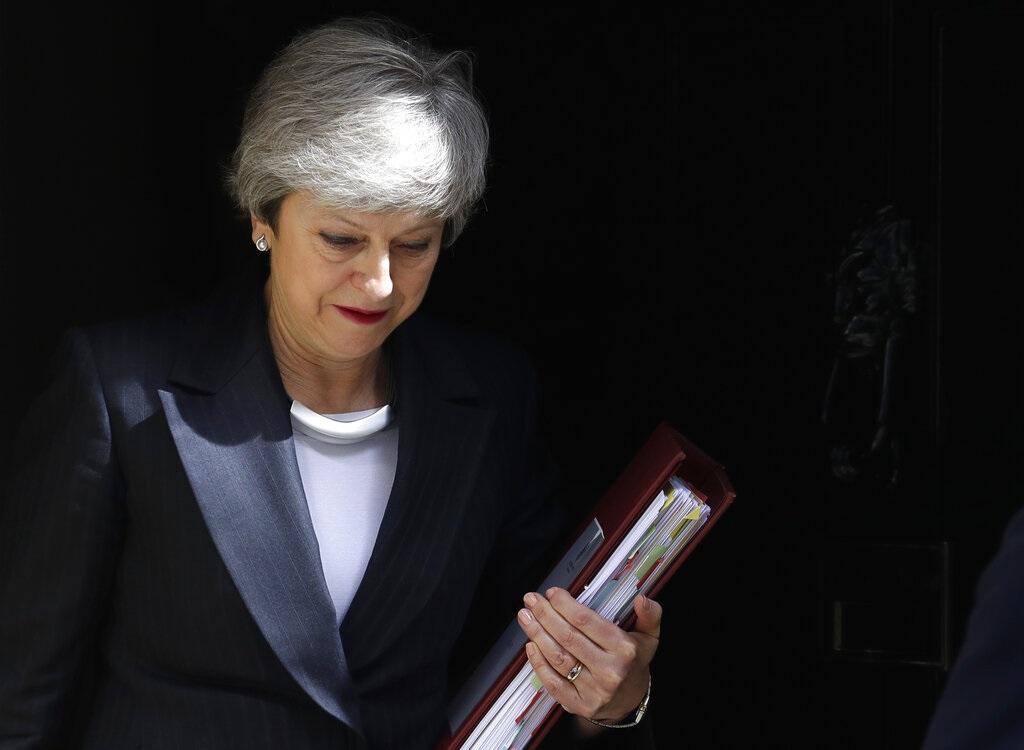 英國傳媒報道首相文翠珊本周五宣布下台日期。AP圖片