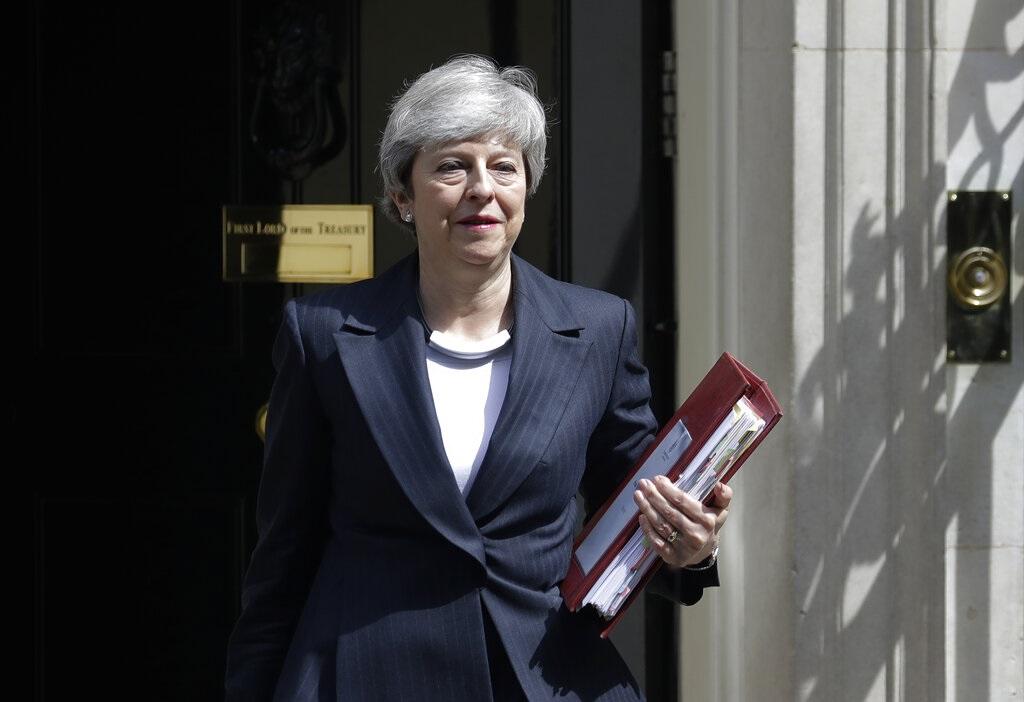 英國首相文翠珊。AP圖片