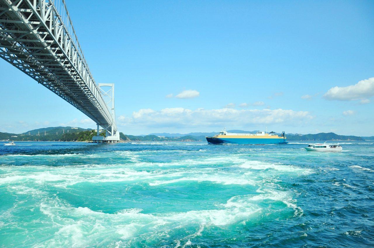 德岛鸣门漩涡。网上图片