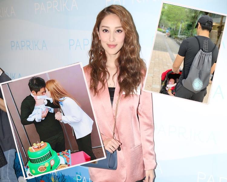 陳凱琳日前首次親自操刀為囝囝剪頭髮。