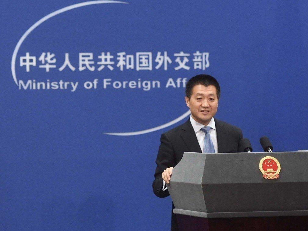 北京外交部發言人陸慷。新華社資料圖片