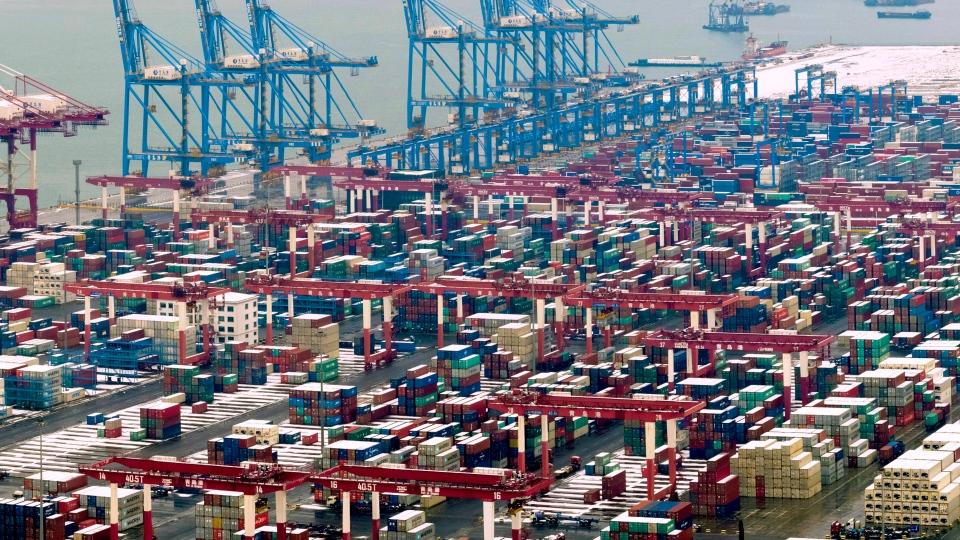 北京外交部指打压中国科企不利于贸易磋商氛围。AP图片