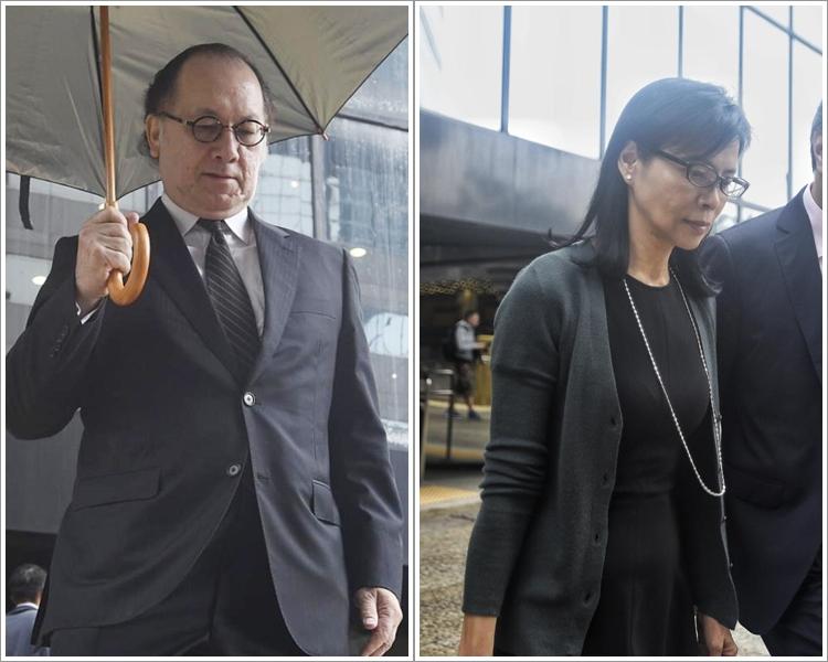 證人謝天賜(左)。被告陳婉玉(右)。