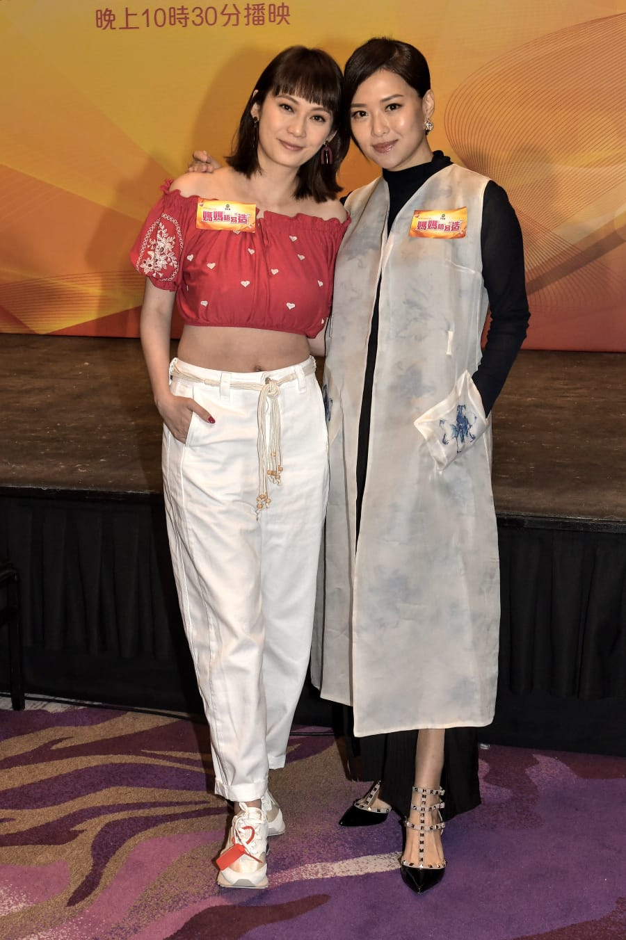 吳日言與董敏莉出席新節目《媽媽唔易「造」》記者會。