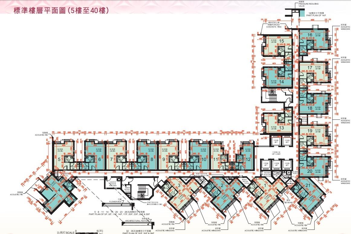 凱德苑樓層平面圖。
