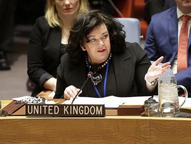 英國駐聯合國大使皮爾斯。AP圖片