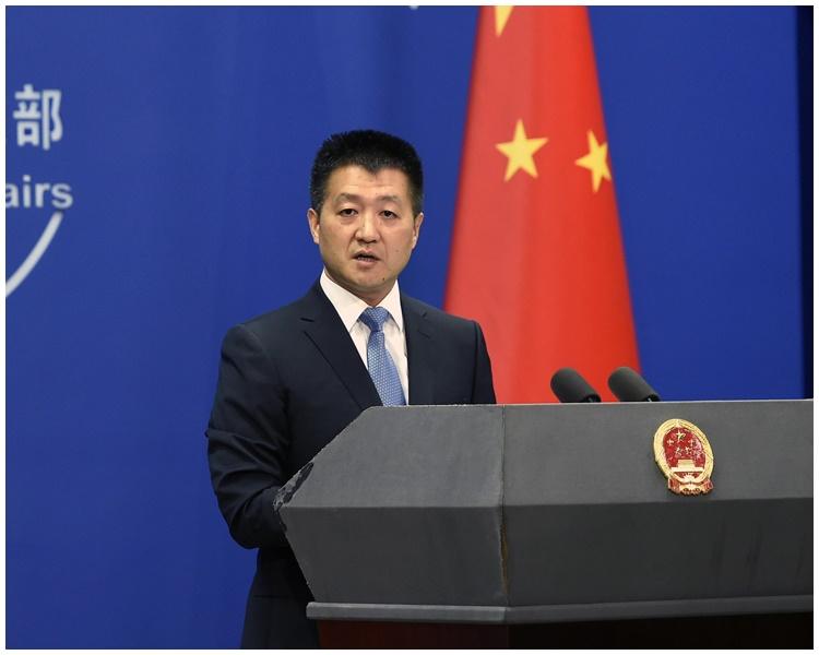 陸慷強調,香港事務全屬中國內政。新華社圖片