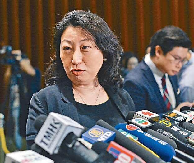 律政司司長鄭若驊。 資料圖片