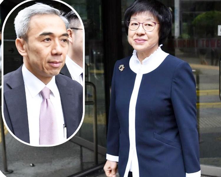 馮永業(小圖)與李淑儀今日先後到庭。