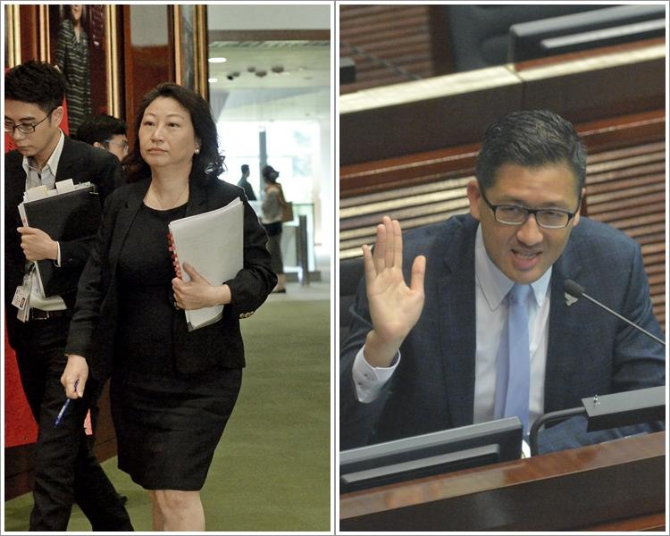鄭若驊(左);林卓廷(右)。 資料圖片
