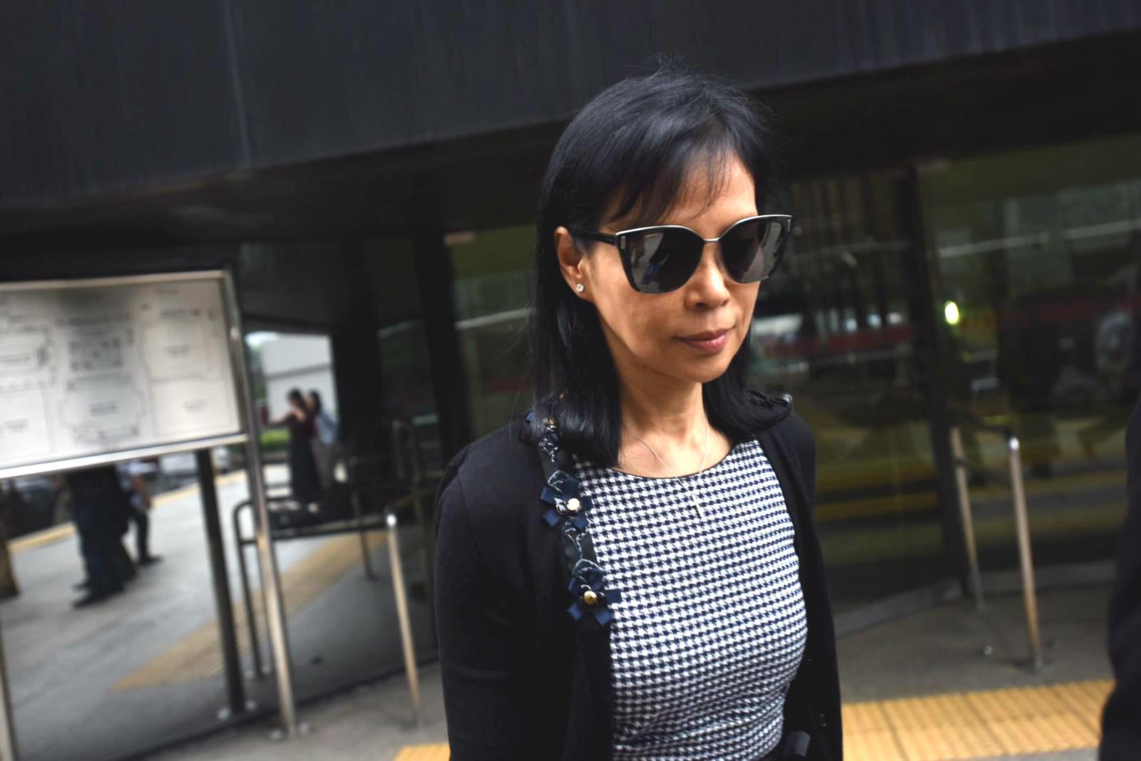 被告陳婉玉離開法院