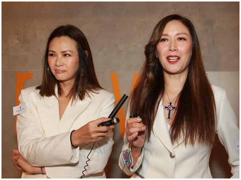 琦琦(右)力撐好友馬詩慧(左)為女兒影藝術裸相。