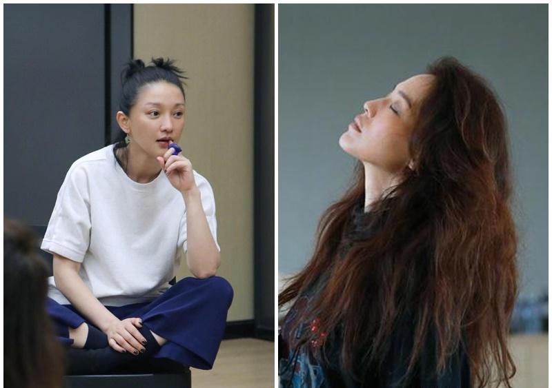 周迅(左)與舒淇(右)齊齊上堂學演技。陳坤微博