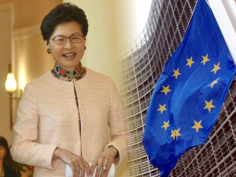 歐盟代表會見行政長官林鄭月娥。資料圖片/AP