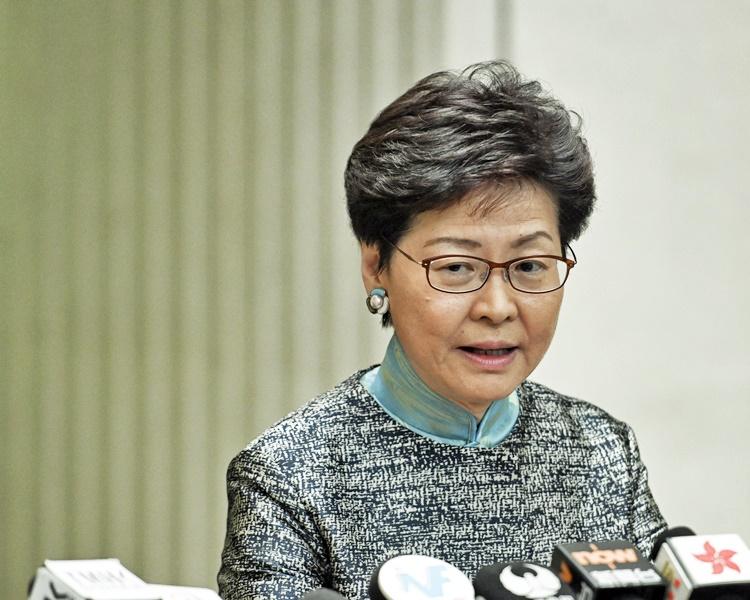 林鄭月娥重申重視行政立法關係。資料圖片
